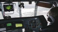 The pilot controls the helicopter Stock Footage