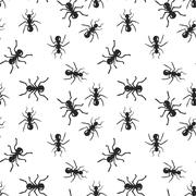Vector seamless ant colony insect pattern Stock Illustration