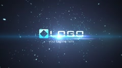 Stock After Effects of Particles Explosion Light Logo Reveal Intro - Elegant Dark Business Logo Stinger