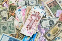 World Currency - Banknotes - Money - stock photo