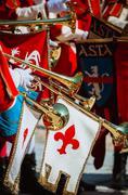 Medieval musicians Stock Photos