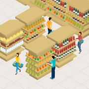 Stock Illustration of People Shopping Illustration