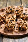 Homemade granola pieces Stock Photos