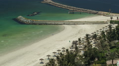 Beautiful area of beach in Ajman timelapse near the turquoise waters of Arabian Stock Footage