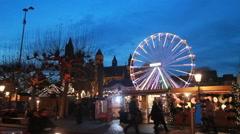 Christmas Fair in Maastricht Stock Footage