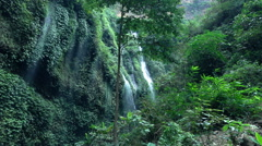 View of waterfall in jungle, super slow motion 120fps Stock Footage