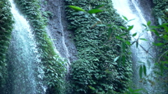 View of waterfall in jungle, super slow motion 240fps Stock Footage