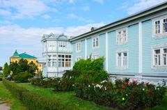 Igumen housing, Holy Trinity Seraphim-Diveevo monastery, Diveevo, Russia Stock Photos