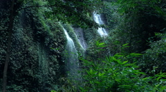 View of waterfall in jungle Stock Footage
