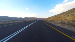 Empty Desert road - driving footage Stock Footage