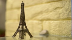 Eiffel Tower Souvenir Figure - stock footage