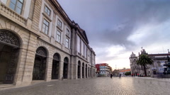 Natural History Museum of Porto University building in Gomes Teixeira Square Stock Footage