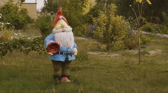 Gnome Statue Doll Figurine Stock Footage