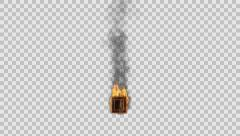 Stock Video Footage of burning figure rendered in PNG with alpha channel