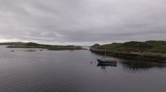 Stunning aerial shot on the Isle of Harris, Scotland near the coasT Stock Footage
