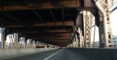 Handheld Driving POV Across Queensborough Bridge 4K Stock Video Stock Footage