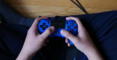 Overhead View of Teen Playing Video Game on Controller 4K Stock Video Stock Footage