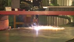 Laser Cutting of Metal Stock Footage