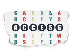 Safety concept: Access in Crossword Puzzle Stock Illustration