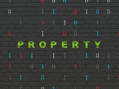 Stock Illustration of Business concept: Property on wall background