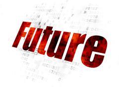 Timeline concept: Future on Digital background Stock Illustration