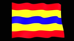 Flag of Dutch Province Overijssel. Waving (PNG) computer animatie. - stock footage