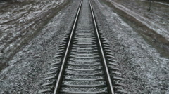 Railway, Railroad track. sleepers Stock Footage