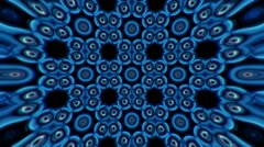 Beautiful and Unique Psychedelic Kaleidoscope of Digital Robotic Bulbs Stock Footage