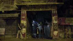 Entrance to Tibetan Refugee Colony in Delhi Stock Footage