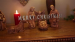 Merry Christmas Nativity - Slow Push In Stock Footage