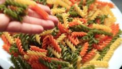 Colorful pasta 3 Stock Footage