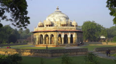 Isa Khan's Tomb in Delhi Stock Footage