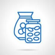 Saving money abstract blue line vector icon Stock Illustration
