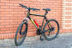 The mountain bicycle with disk brakes. Kuvituskuvat