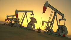 Silhouette Of Oil Rig Stock Footage