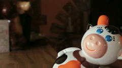 Roly-poly toy at home Stock Footage