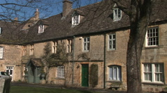 Cotswolds England traditional buildings - stock footage