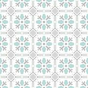 Seamless vintage background. Victorian ornament tile in vector. Stock Illustration