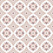 Portuguese tiles, seamless pattern. Vintage background - Victorian ceramic ti Stock Illustration