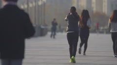 People walking in the park Stock Footage