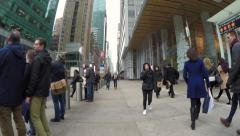 People walking street in New York City time-lapse POV Stock Footage