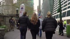 People walking street in New York City time-lapse POV - stock footage