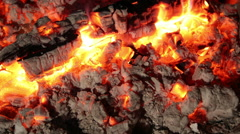 Extinguishing Coals Stock Footage