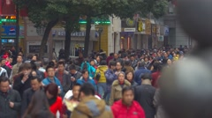 Busy Traffic on Nanjing Road, Shanghai Stock Footage