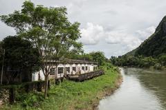 Riverside House in Nam Song Stock Photos