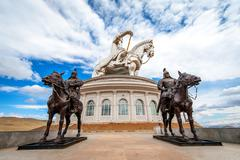 The world's largest statue of Genghis Khan - stock photo