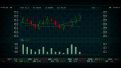 Stock Chart Blue Stock Footage