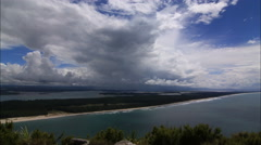 A time-lapse on top of Mount Maunganui, New Zealand Stock Footage