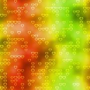 Seamless pattern with hearts motif on colored background Stock Illustration