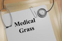 Medical Grass concept - stock illustration